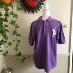 Vintage Large Pony Polo Shirt in Lavender